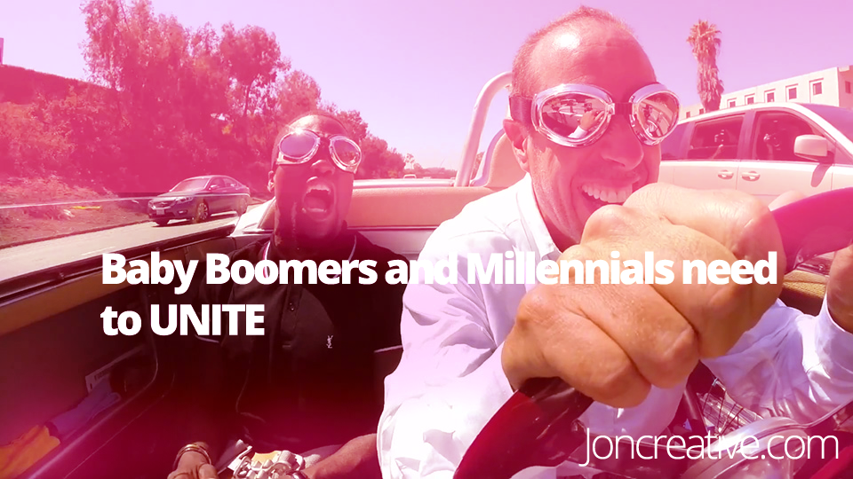 baby boomers and millennials are better together